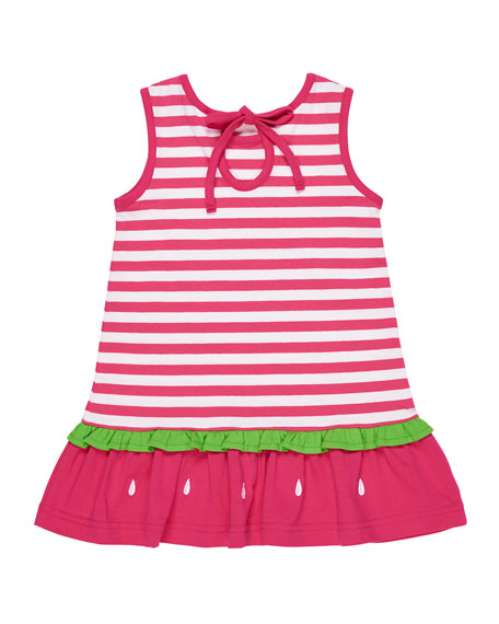 Stripe Knit Watermelon Dress, Size 2-6X