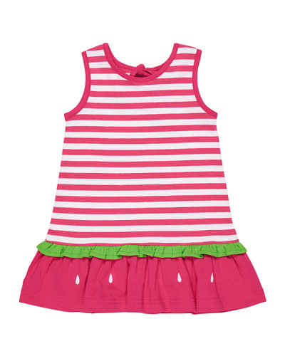 Stripe Knit Watermelon Dress, Size 2-6X