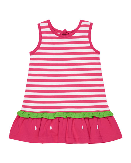 Florence Eiseman Stripe Knit Watermelon Dress, Size 2-6X