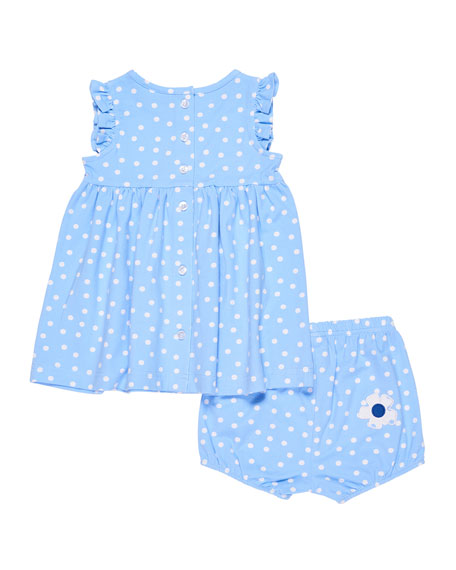Polka-Dot Ruffle Top w/ Bloomers, Size 3-24 Months