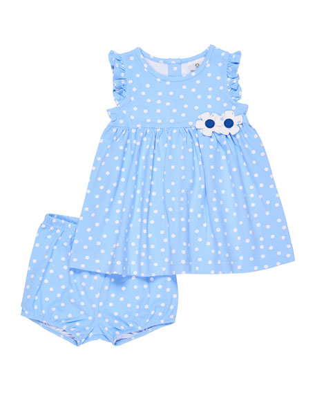 Florence Eiseman Polka-Dot Ruffle Top w/ Bloomers, Size
