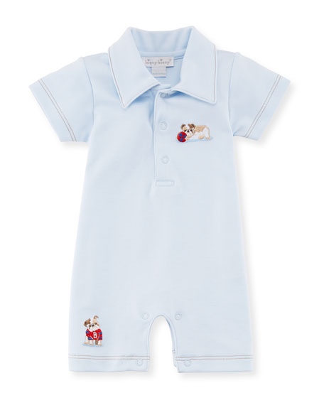 Kissy Kissy Burly Bulldogs Polo Pima Playsuit, Size