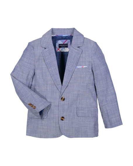 Andy & Evan Boys' Chambray Two-Piece Suit, Size