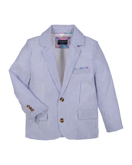 Andy & Evan Boys' Two-Piece Seersucker Suit, Size