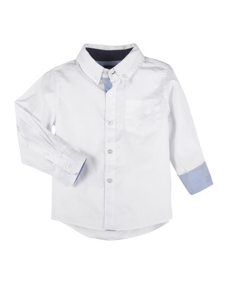 Andy & Evan Button-Down Oxford Shirt w/ Contrast
