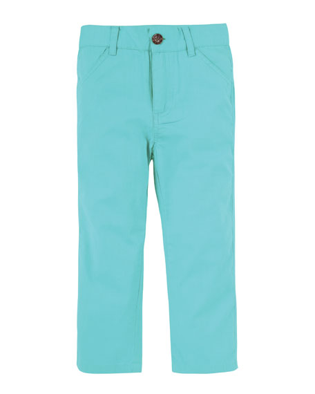 Straight-Leg Twill Pants, Size 3-24 Months