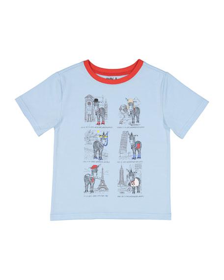 Short-Sleeve Zebra Tourist T-Shirt, Size 3-24 Months