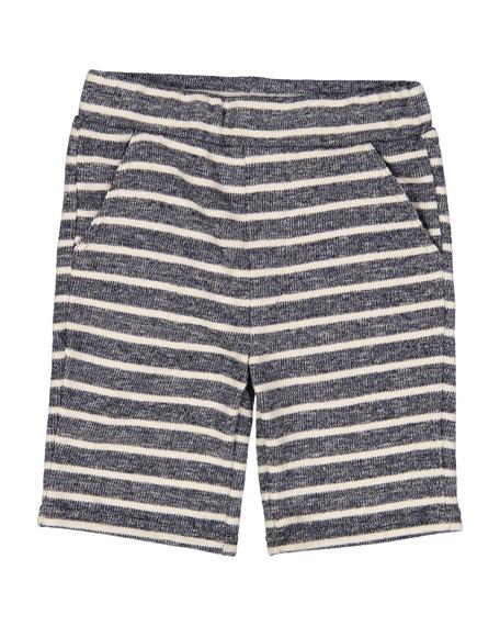 Cotton-Blend Striped Shorts, Size 2-7
