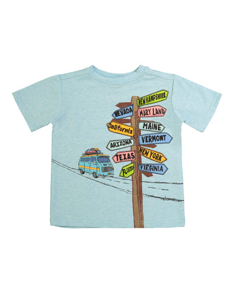 Andy & Evan Directional Sign Short-Sleeve T-Shirt, Size