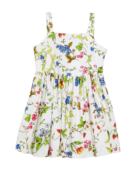 Emaline Floral-Print Dress, Size 4-7