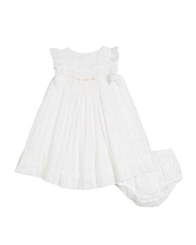 Windowpane Knit Dress w/ Bloomers, Size 9-24 Months