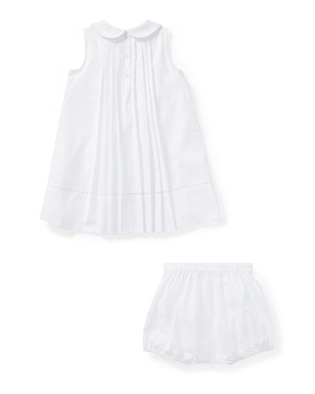 Broadcloth A-Line Dress w/ Bloomers, Size 9-24 Months