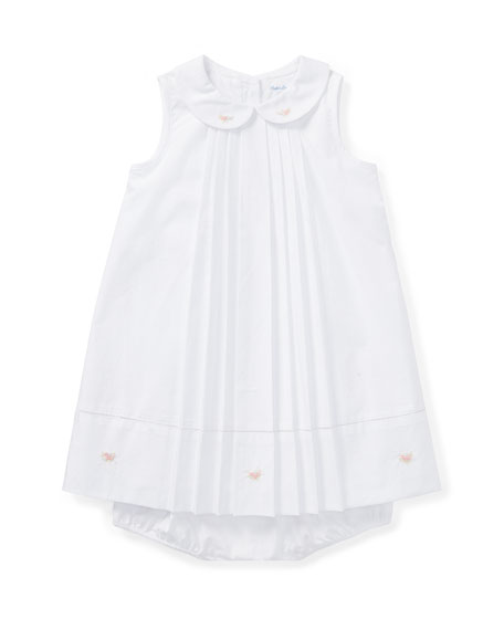 Ralph Lauren Childrenswear Broadcloth A-Line Dress w/ Bloomers,