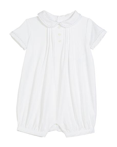 Interlock Peter Pan-Collar Shortall, Size 3-18 Months