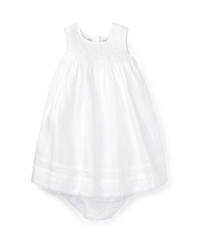 Smock Sleeveless Dress w/ Bloomers, Size 9-24 Months