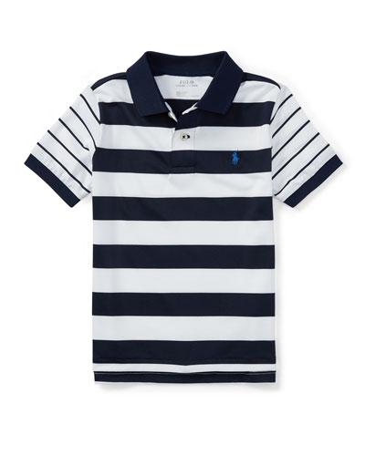 Lisle Multi-Stripe Short-Sleeve Polo, Size 2-4T