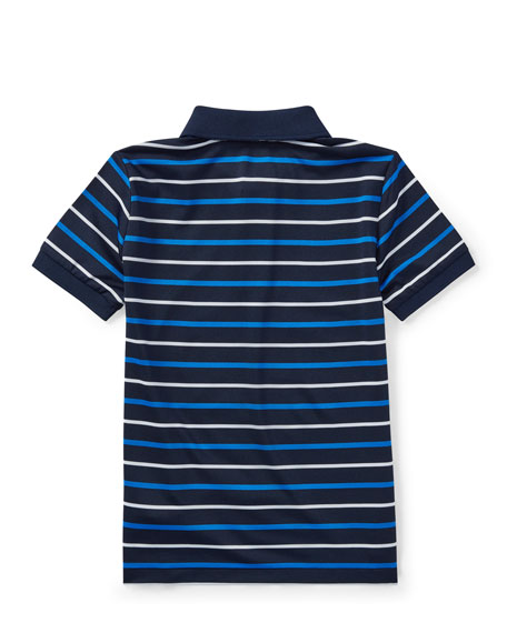 Lisle Striped Short-Sleeve Polo, Size 2-4T