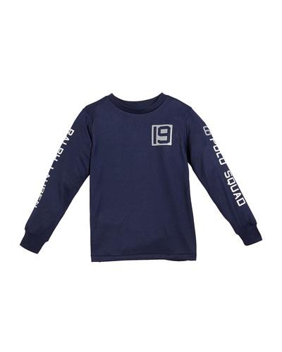Long-Sleeve Performance Jersey T-Shirt, Size 2-4T