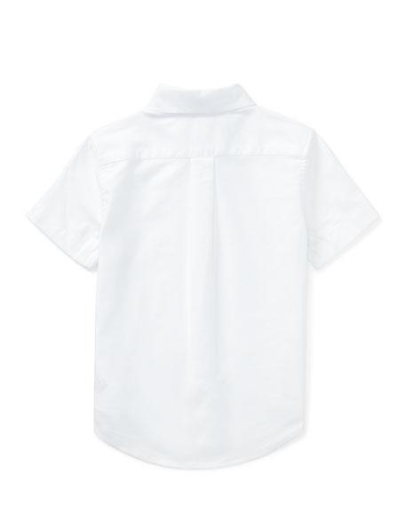 Short-Sleeve Performance Oxford Shirt, Size 2-4T