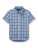 Short-Sleeve Check Performance Oxford Shirt, Size 5-7
