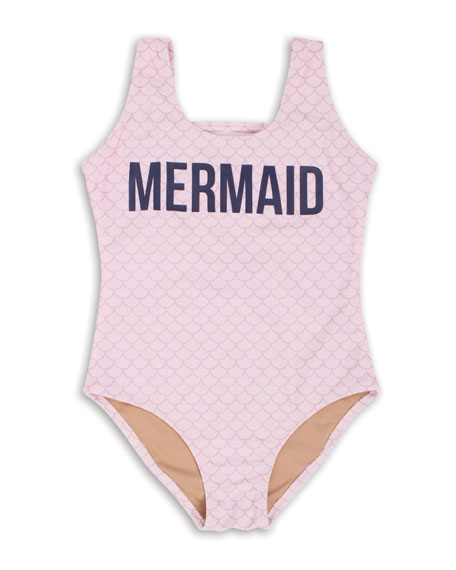 Off Duty Mermaid One-Piece Swimsuit, Size 2-5