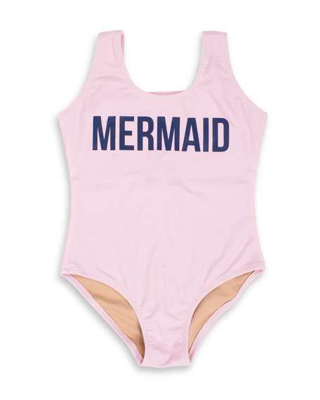 Shade Critters Off Duty Mermaid One-Piece Swimsuit, Size