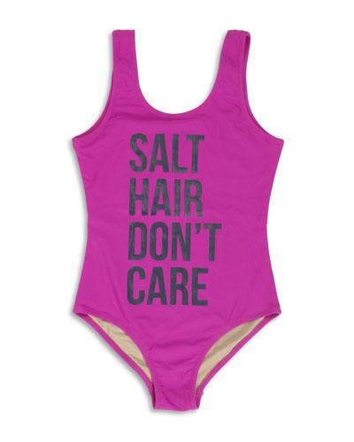 Salt Hair Don't Care One-Piece Swimsuit, Size 7-14