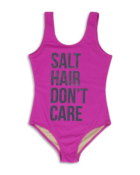 Salt Hair Don't Care One-Piece Swimsuit, Size 7-14
