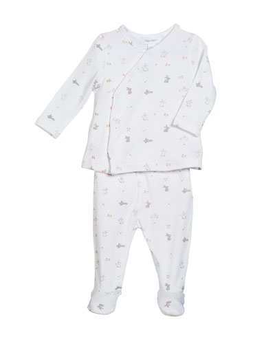 Take Me Home Ditsy Rabbit 2-Piece Outfit Set, Size Newborn-3 Months