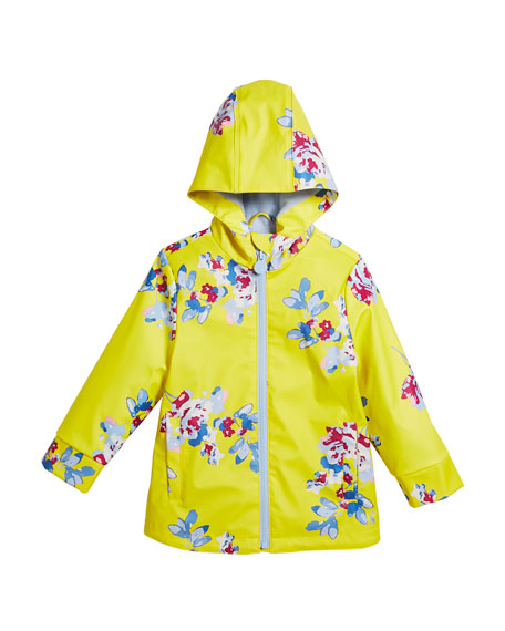 Raindance Floral Hooded Raincoat, Size 3-10