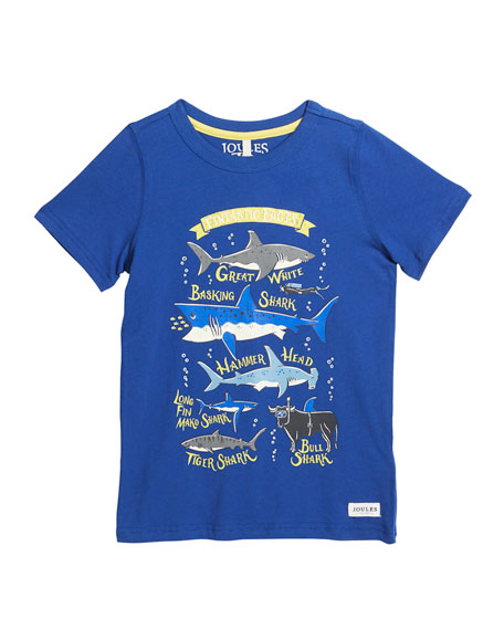 Ray Shark Facts Graphic Tee, Size 3-6