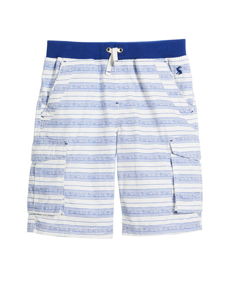 Bob Multi-Stripe Cargo Shorts, Size 3-6