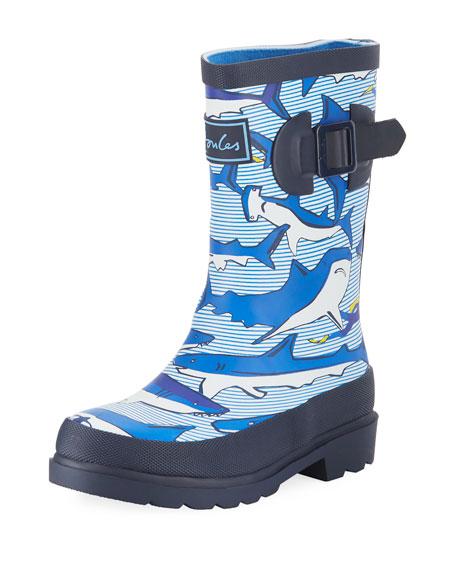 Shark Rubber Rain Boot, Toddler/Kid