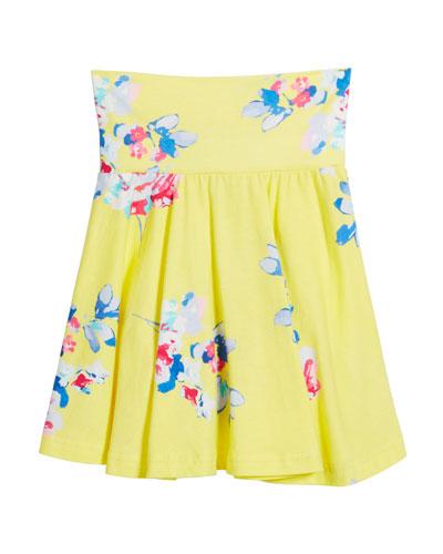 Izzie Floral Jersey Skirt, Size 3-6