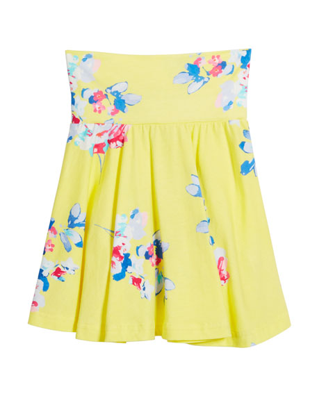 Izzie Floral Jersey Skirt, Size 3-6