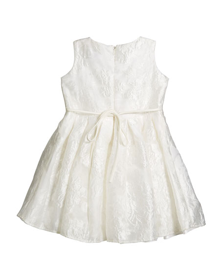 Rose Jacquard Organza Dress, Size 7-14
