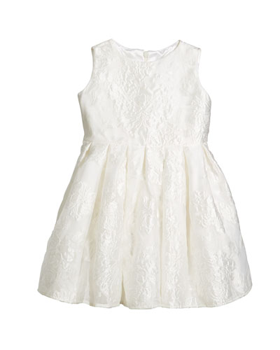 Rose Jacquard Organza Dress, Size 7-14