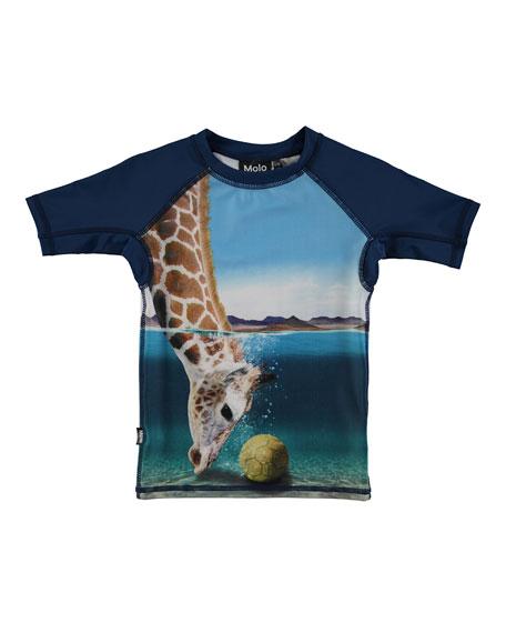 Neptune Giraffe Rash Guard, Size 2T-8