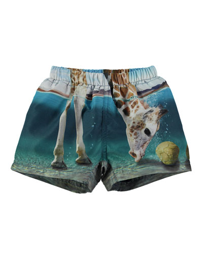 Newton Giraffe Swim Trunks, Size 3-24 Months