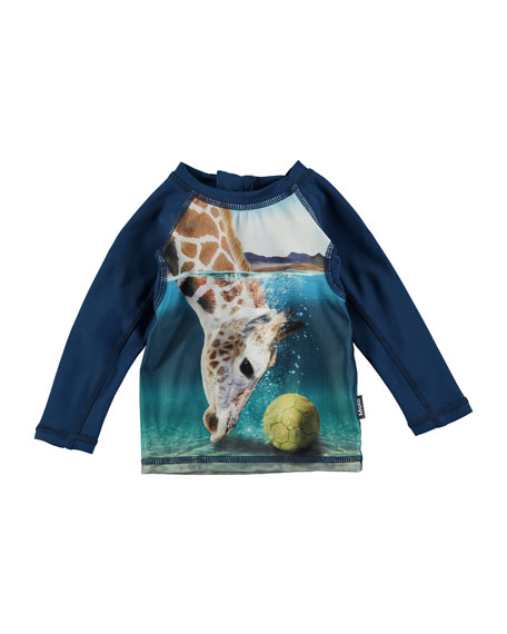 Nemo Giraffe Long-Sleeve Rash Guard, Size 3-24 Months