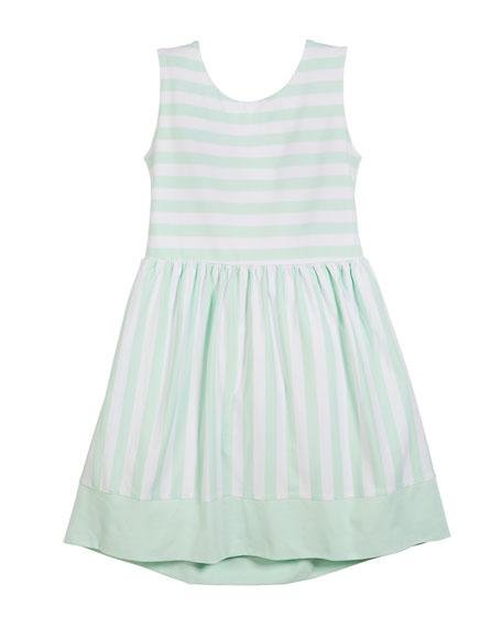 kate spade new york kali striped cutout-back dress,