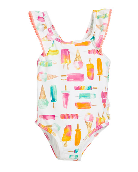 ice pops one-piece swimsuit, size 12-24 months