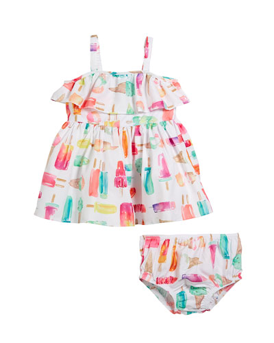 ice pops sleeveless dress w/ bloomers, size 12-24 months