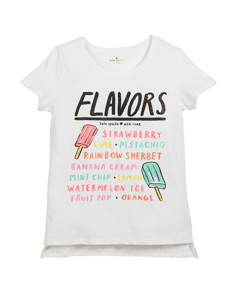 ice pops menu short-sleeve tee, size 7-14