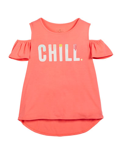 chill cold-shoulder tee, size 7-14