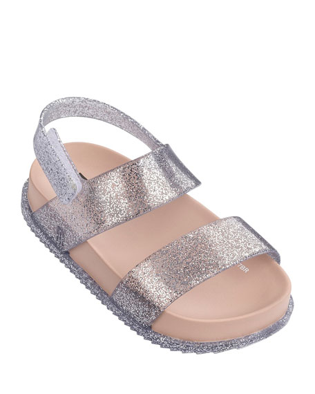 Mini Melissa Cosmic Glittered Sandal, Toddler