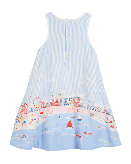 Seaside Sleeveless Dress, Size 3-6