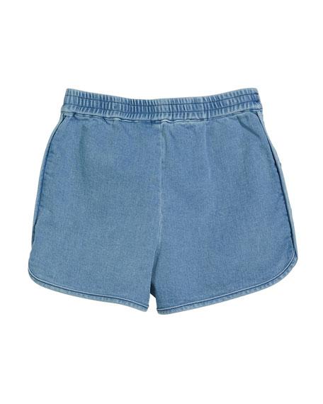 Denim Drawstring Shorts, Size 3-10