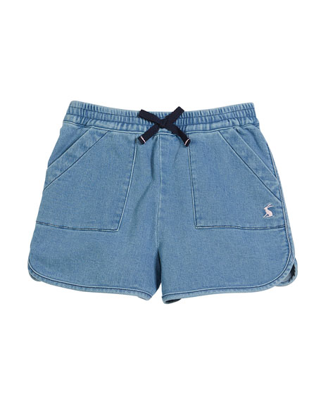 Denim Drawstring Shorts, Size 3-10