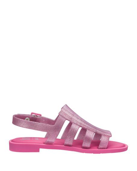 Mel Boemia Glittered Sandal, Kids